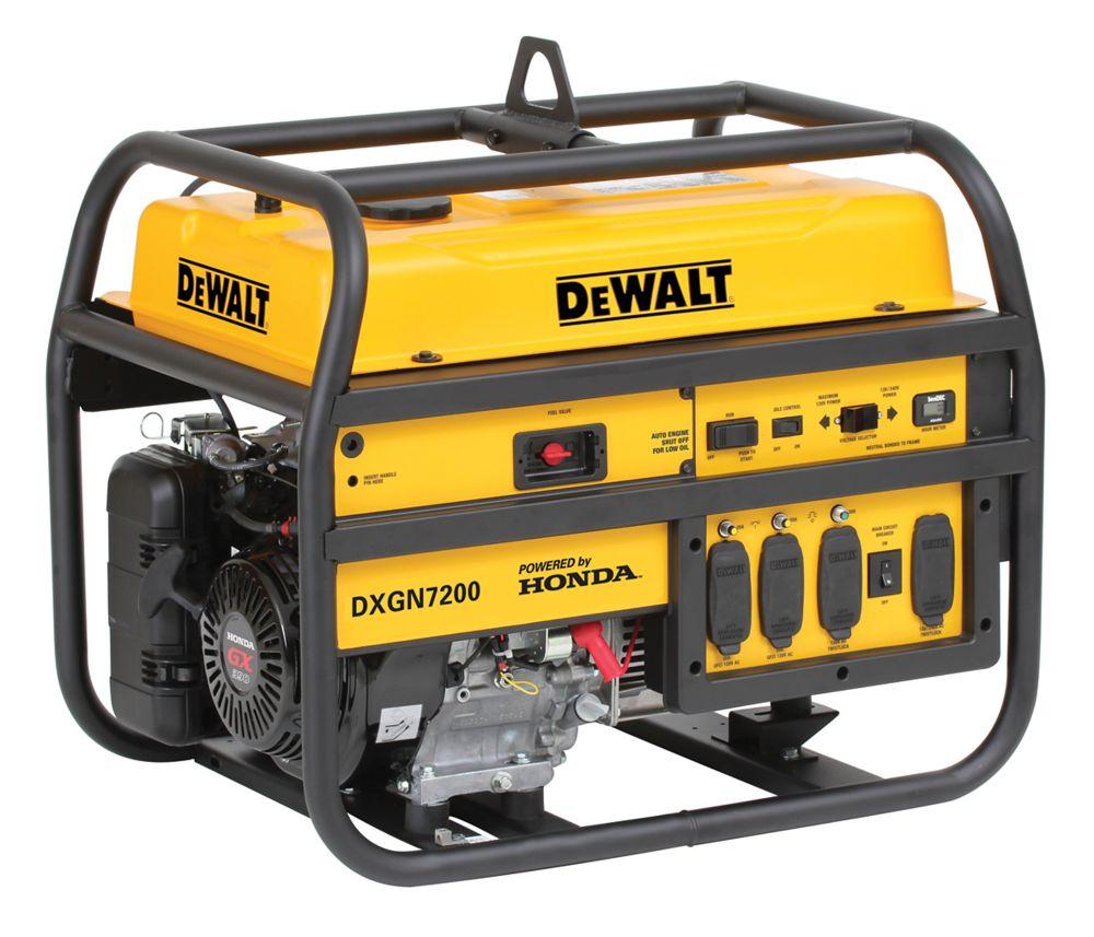 Watt Meter Home Depot Canada: DEWALT 7200Watt Portable Generator Honda Engine Electric