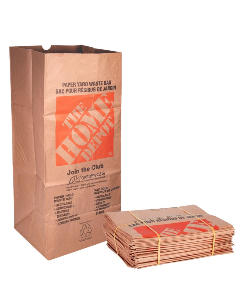 Kraft Paper 2 Ply Lawn Leaf And Yard Waste Bags 25 Pack