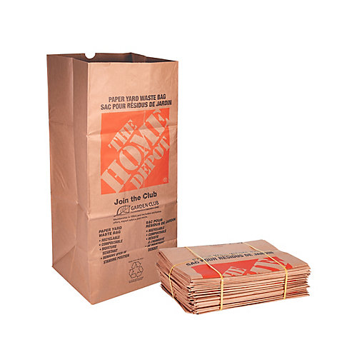 Kraft Paper 2-Ply Lawn, Leaf and Yard Waste Bags (25-Pack)