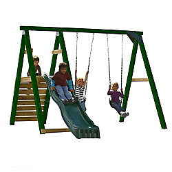Timber-Bilt Pine Bluff Complete Playset with Slide and Tuff Wood