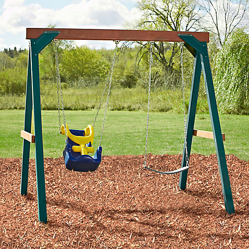 Adaptive Wood Complete Play Set with Adaptive and Commercial Grade Swing Seats