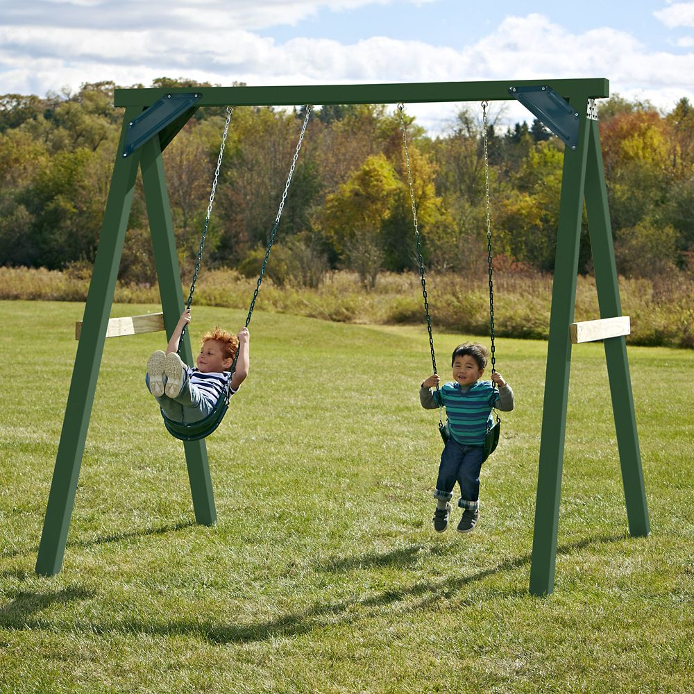 1-Hour Swing Set with Tuff Wood