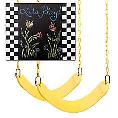 2 Swing Seats and Chalkboard Swing Set Refresher Pack Kit