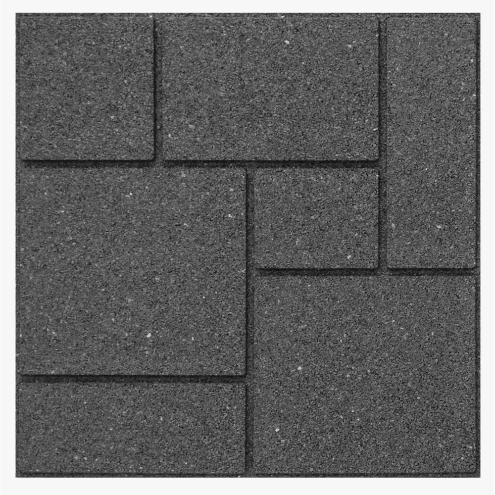 Multy Home Envirotile Landscaping Supplies Cobblestone 18 in. x 18 in. Grey Paver