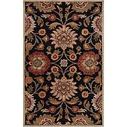Artistic Weavers Carpette d'intérieur, 9 pi x 12 pi, style contemporain, rectangulaire, noir Amanda