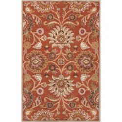 Artistic Weavers Amanda Orange 5 ft. x 7 ft. 9-inch Indoor Contemporary Rectangular Area Rug