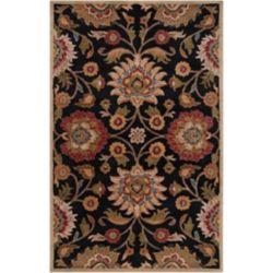 Artistic Weavers Carpette d'intérieur, 9 pi x 10 pi, style contemporain, rectangulaire, noir Amanda