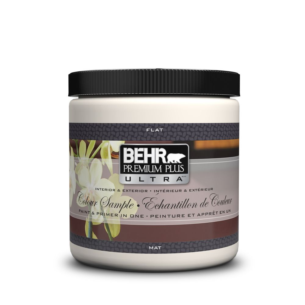 Behr Premium Plus Ultra BEHR PREMIUM PLUS ULTRA Interior/Exterior Flat, Paint & Primer in One - Medium Base - 8 oz. Sample Jar