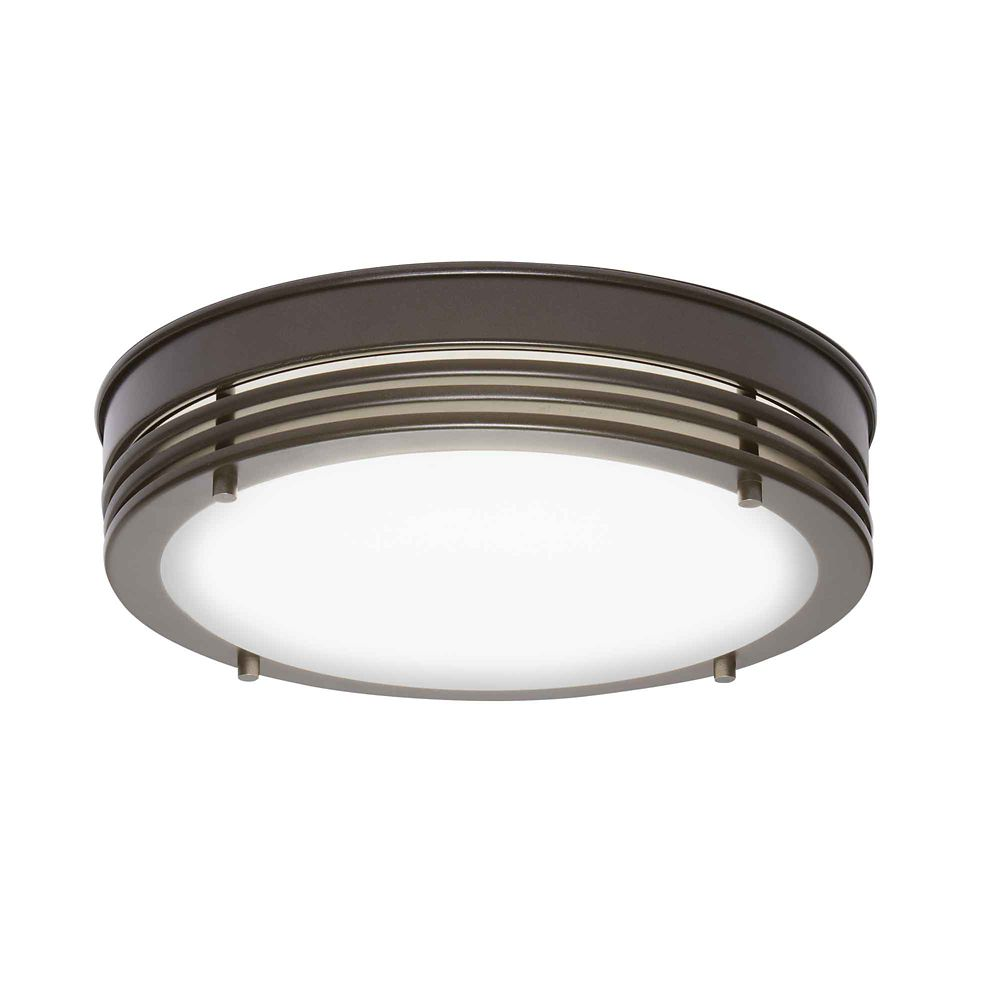 Home Decorators Collection Oil Rubbed Bronze Led Flush Mount 13 Inch The Home Depot Canada