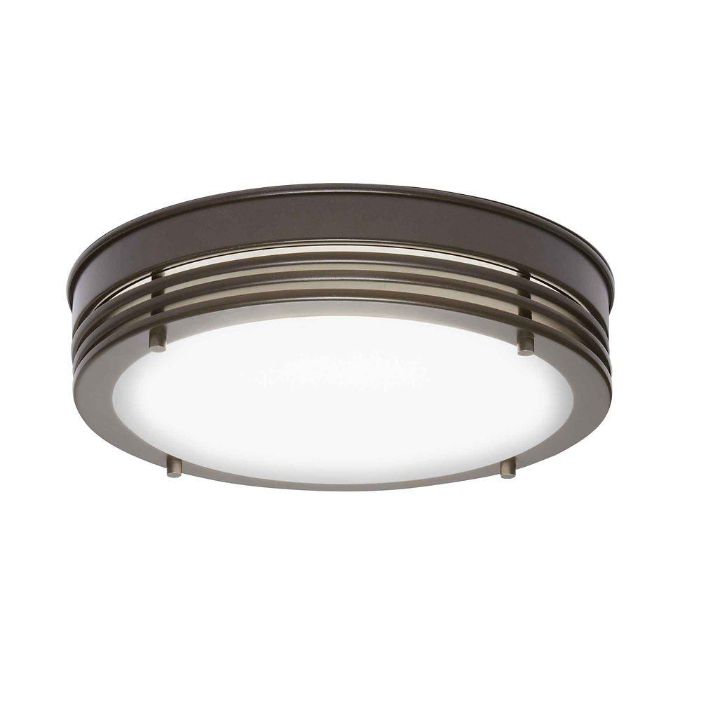 Home Decorators Collection Oil Rubbed Bronze LED Flush Mount 13