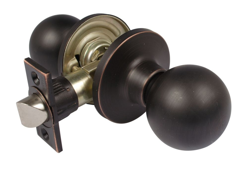Saturn Door Lock Passage Rub Bronze