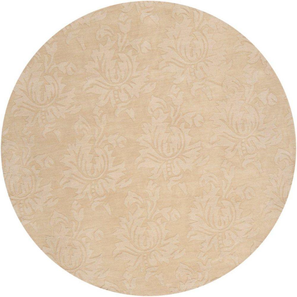 Sofia Gold Wool 8 Feet x 8 Feet Area Rug