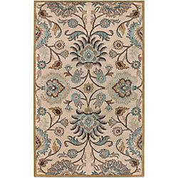 Artistic Weavers Carpette d'intérieur, 3 pi 6 po x 5 pi 6 po, style contemporain, rectangulaire, havane Amanda
