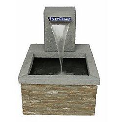 Angelo Décor Bassin de patio en pierre avec déversoir illuminé