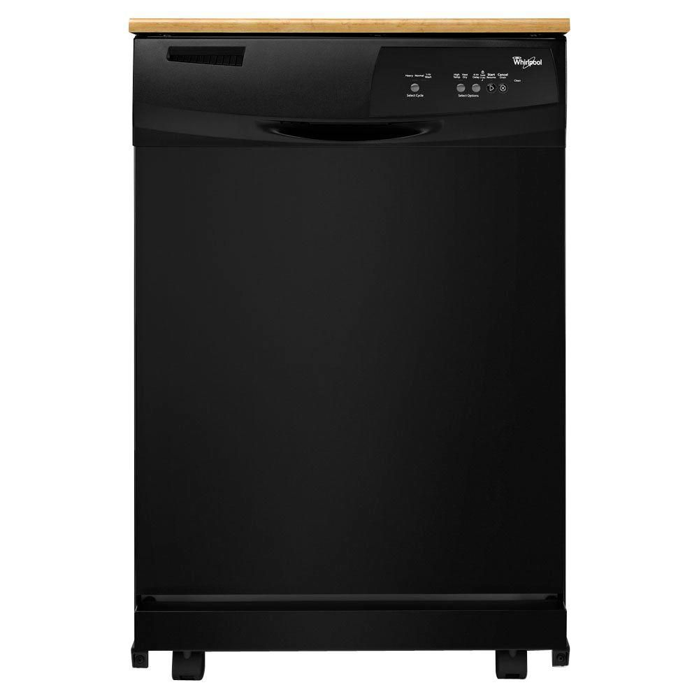 Home Depot Portable Dishwashers : Whirlpool inch portable dishwasher with energy star