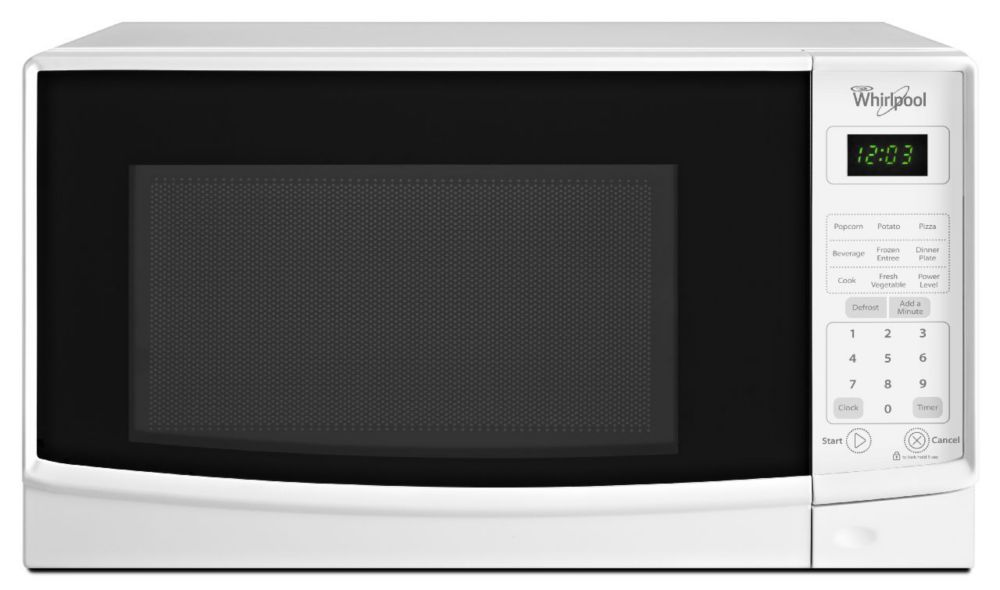 0.7 cu. ft. Countertop Microwave with Electronic Touch Controls in White
