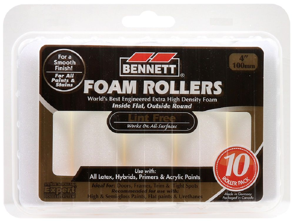 BENNETT 10 Pk-4 Inch.  High Density Foam Refills