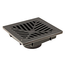 9 X 9 Inch Vortex Catch Basin Pit Complete With  Concave Grate