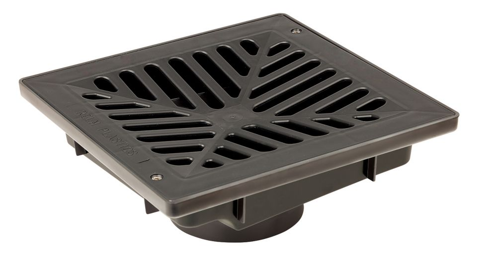 Vortex 9 X 9 Inch Vortex Catch Basin Pit Complete With  Concave Grate