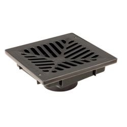 RELN 9 inch x 9 inch Vortex Catch Basin Complete with Black Concave Grate