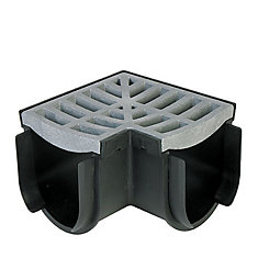 Storm Drain Corner With Portland Grey Grate