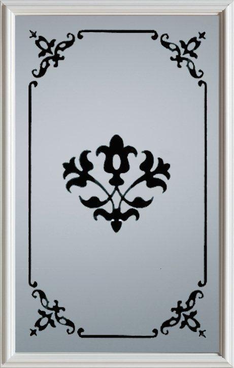 23-inch x 37-inch 1/2-Lite Decorative Silkscreen Glass Door