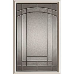 STANLEY Doors 23 inch x 37 inch Chatham Patina Caming 1/2 Lite Decorative Glass Insert