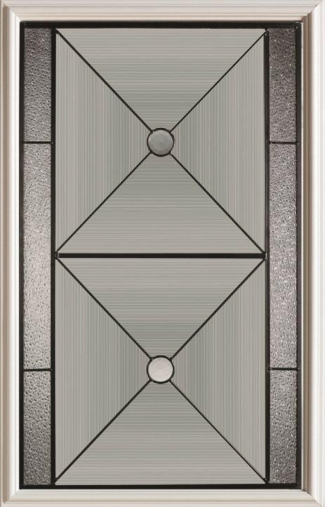 23-inch x 37-inch Bellochio 1/2-Lite Decorative Glass Door