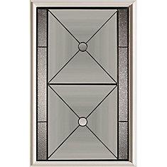 23 inch x 37 inch Bellochio Patina Caming 1/2 Lite Decorative Glass Insert