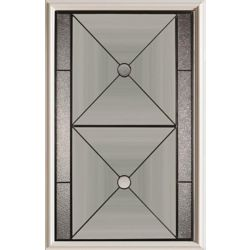 Stanley Doors 23 inch x 37 inch Bellochio Patina Caming 1/2 Lite Decorative Glass Insert