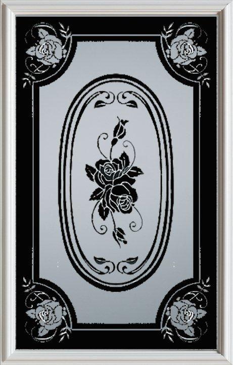 23-inch x 37-inch 1/2-Lite Silkscreen Glass Door