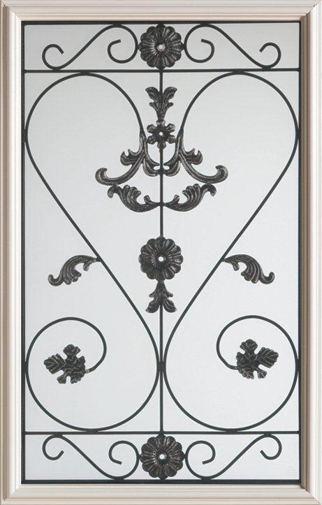 Stanley Doors 23 inch x 37 inch Blacksmith 1/2 Lite Decorative Glass Insert