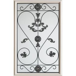 Stanley Doors 23 inch x 37 inch Blacksmith 1/2 Lite Decorative Glass Insert