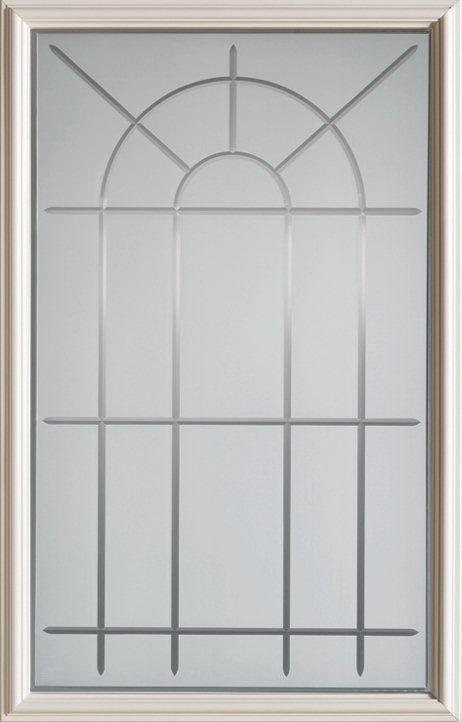 23-inch x 37-inch 1/2-Lite V-Groove Glass Door