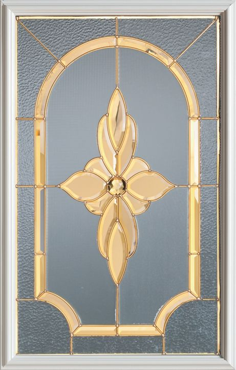 23-inch x 37-inch 1/2-Lite Decorative Glass Door