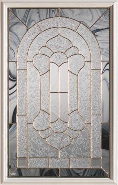 23-inch x 37-inch 1/2-Lite Decorative Glass Door