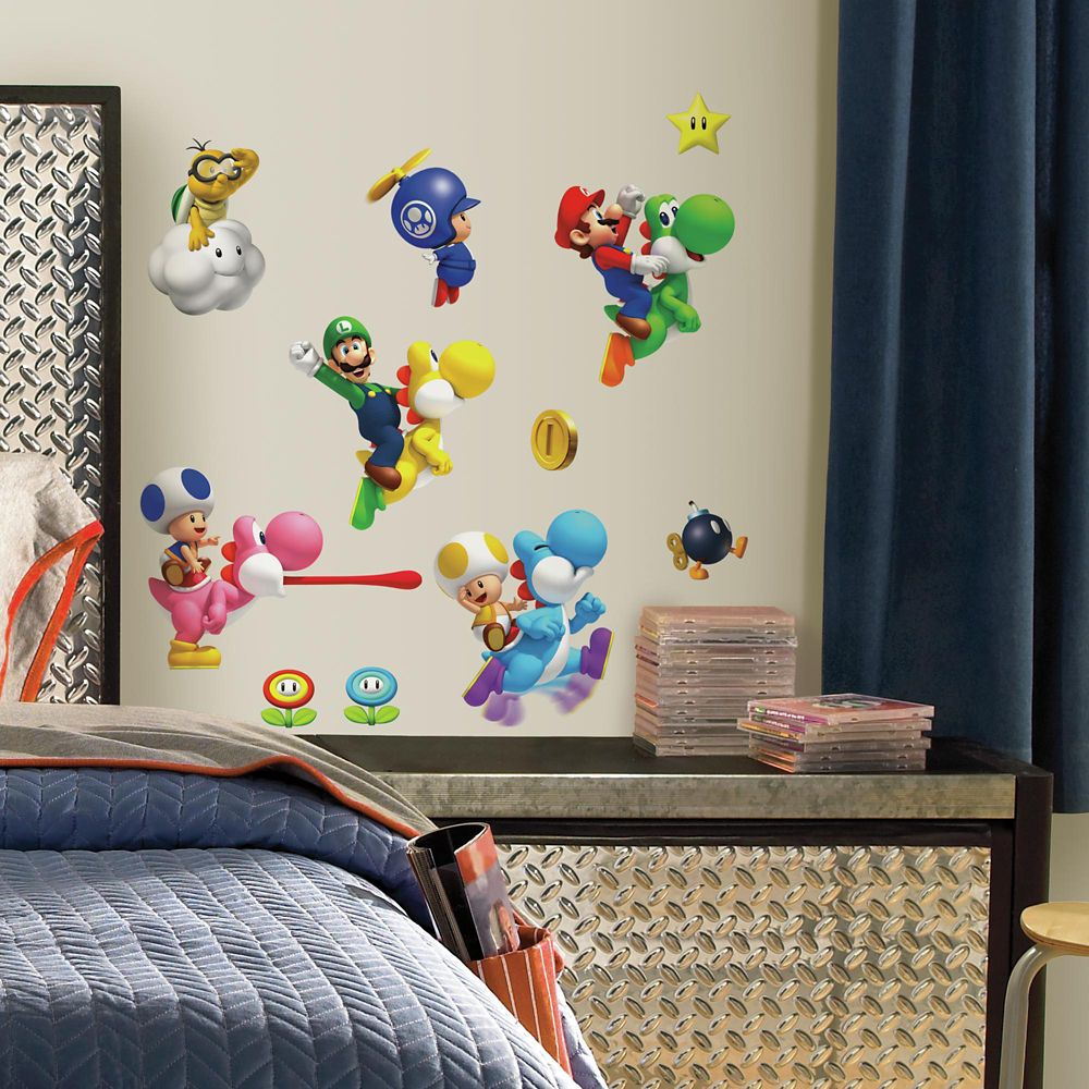 Nintendo - Super Mario Bros. Wii Peel & Stick Wall Decals