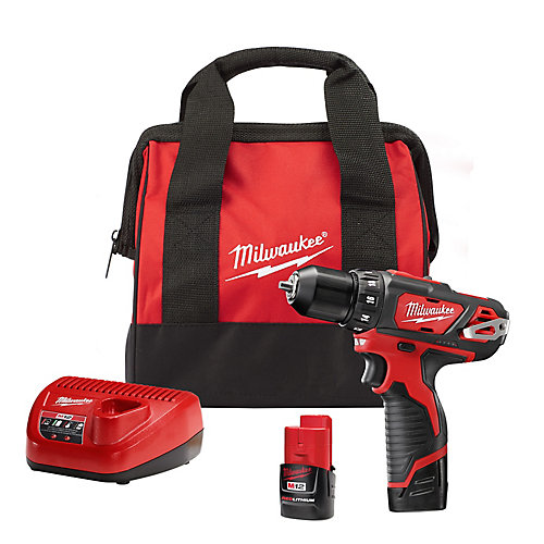 M12 12V Lithium-Ion Cordless 3/8-Inch Drill/Driver Kit with (2) 1.5 Ah Batteries, Charger and Tool Bag