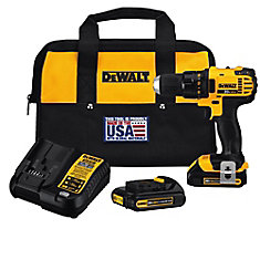 20V MAX Lithium-Ion Cordless Compact Drill/Driver with (2) 20V Batteries, Charger and Tool Bag