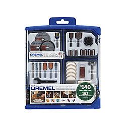 Dremel Ensemble d'accessoires tout usage pour outils pivotants, 162 pièces