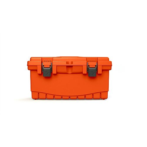 THD 19-inch Plastic Tool Box with Plastic Latches and Removable Tool Tray