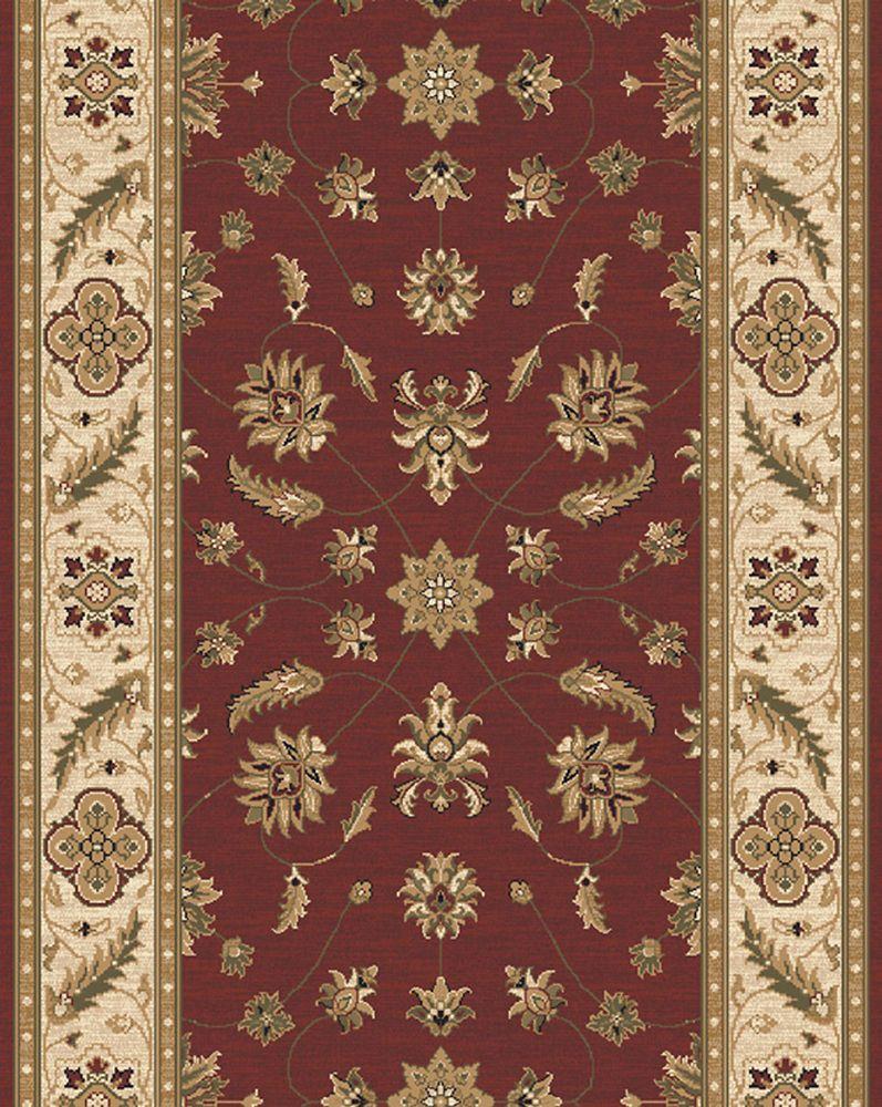 Kazmir Crimson Carpet Runner 26 in x Custom Length (Price per linear foot)
