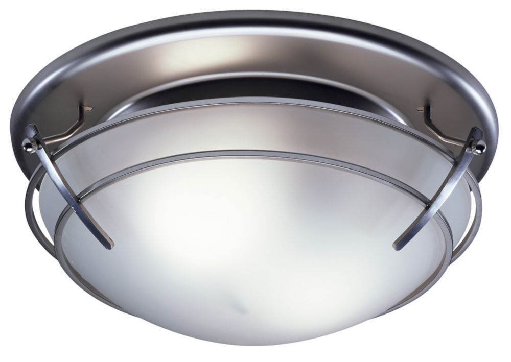 Designer Series - Decorative Satin Nickel Fan - 80 CFM