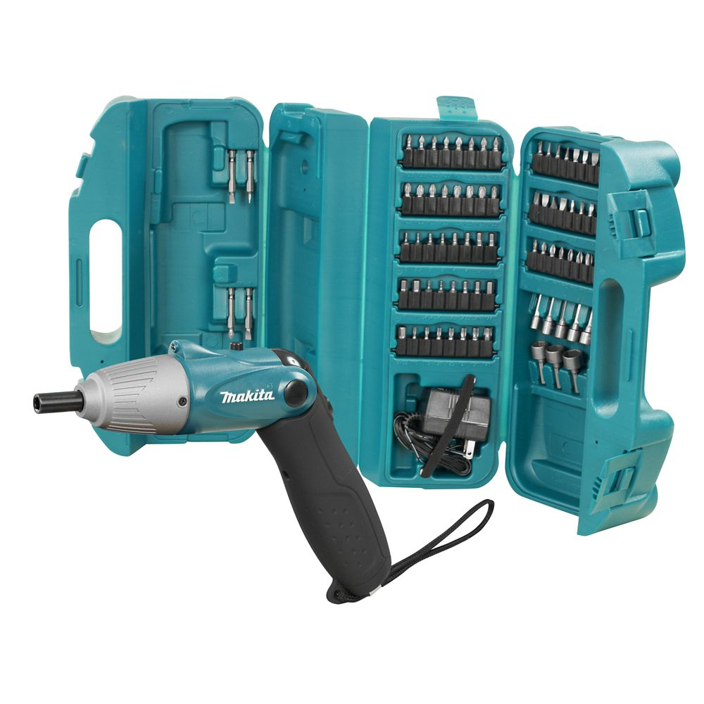 4.8V Cordless Screwdriver with 80-Piece Bit Set