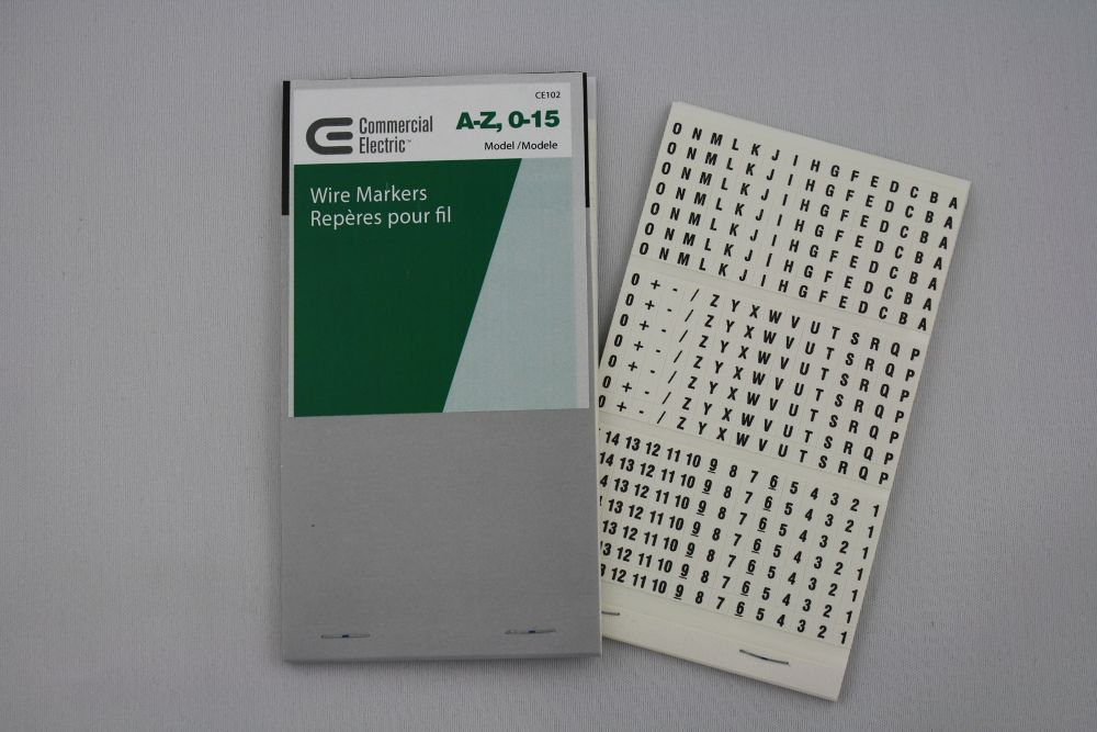 CE Wire Markers A-Z 0-15