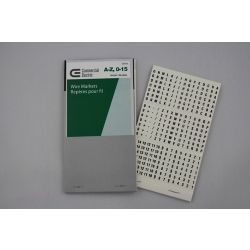 Commercial Electric CE Wire Markers A-Z 0-15