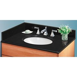 GLACIER BAY 20 Inch Midnight Black Granite Side Splash