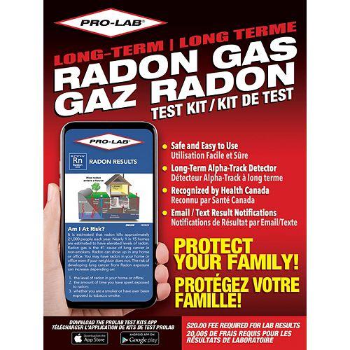 PRO-LAB PRO-LAB Long Term Radon Gas