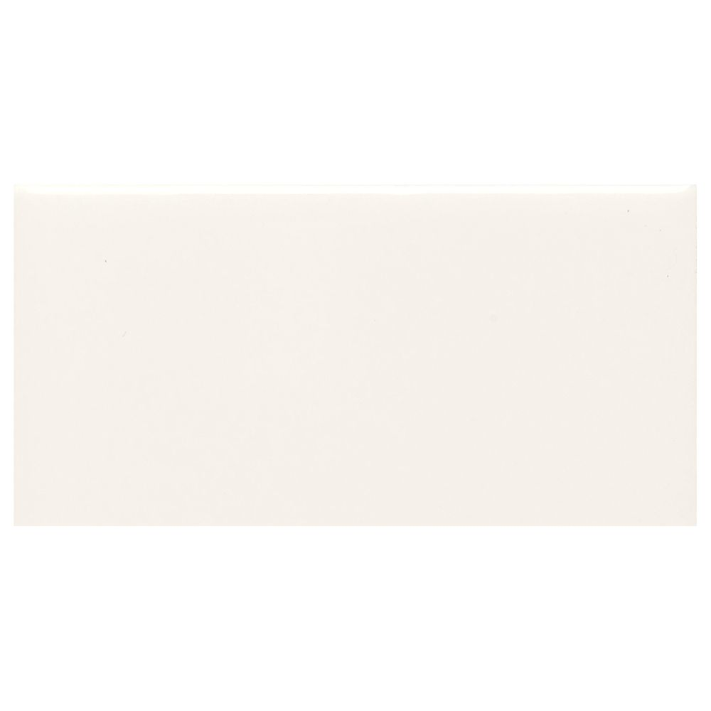 Finesse White 3 Inch x 6 Inch Ceramic Modular Wall Tile (12.5 Sq. Feet / Case)