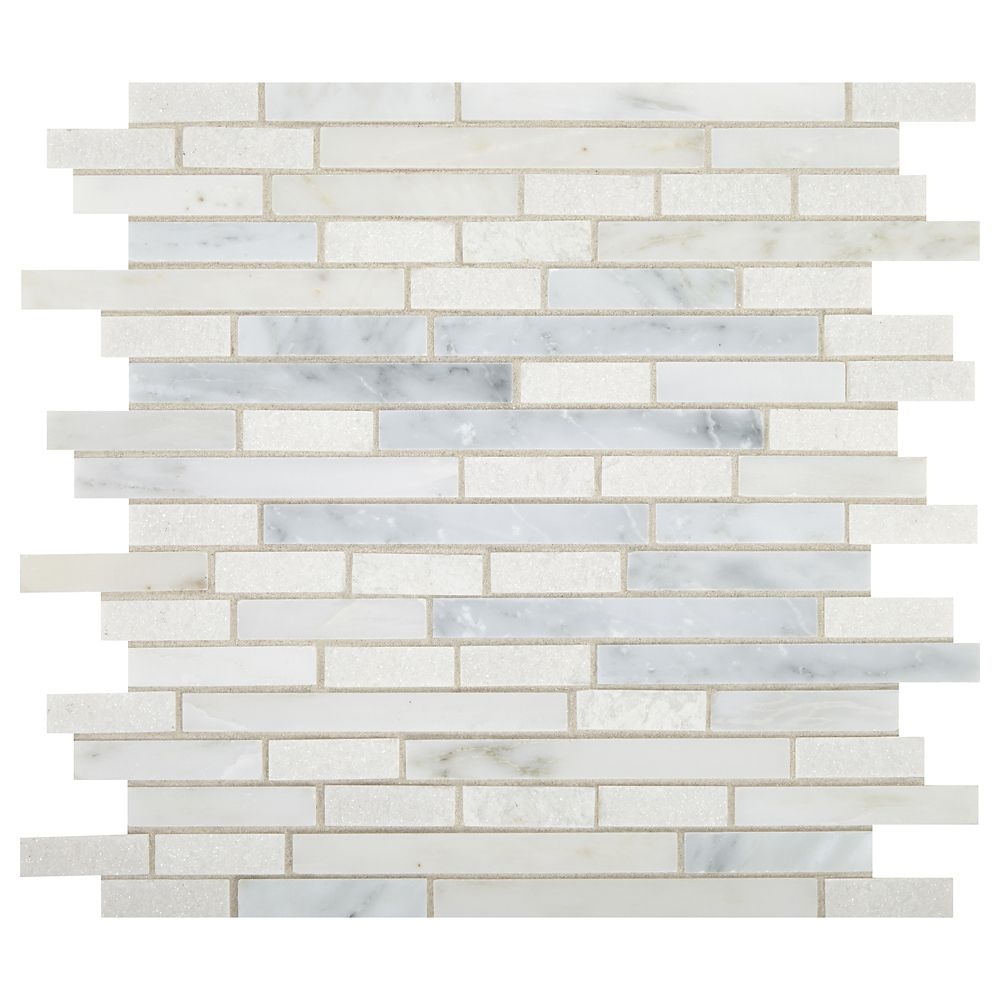 Daltile Mixx Marble 12-inch x 12-inch x 9.5mm Stone Mosaic Tile